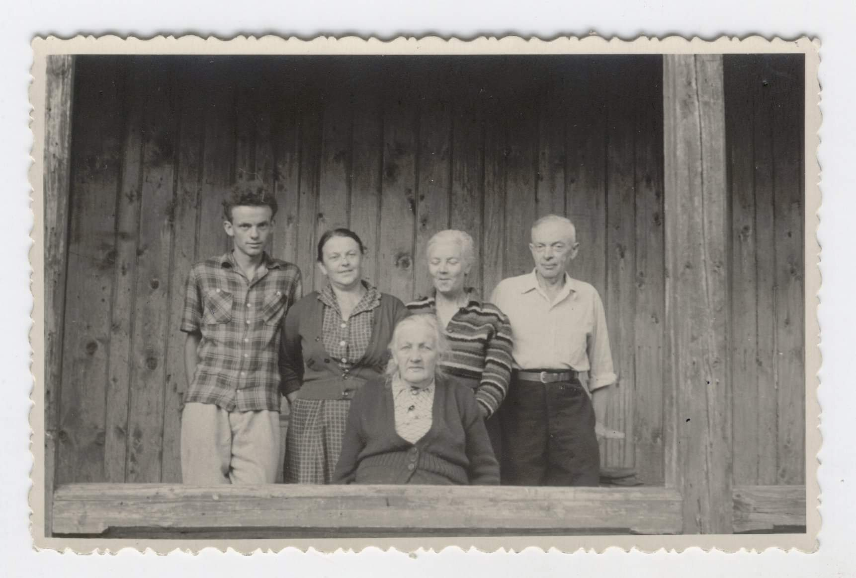 Мирослав Скорик, його тітка Марія, батьки та бабуся Олена