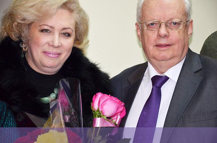 Мирослав Скорик з дружиною